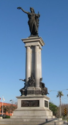 Heroes of San Jacinto Statue in Galveston