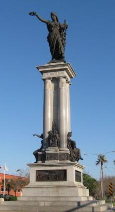 Heroes of San Jacinto Statue in Galveston