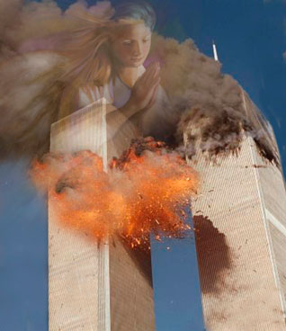 Angel over twin towers