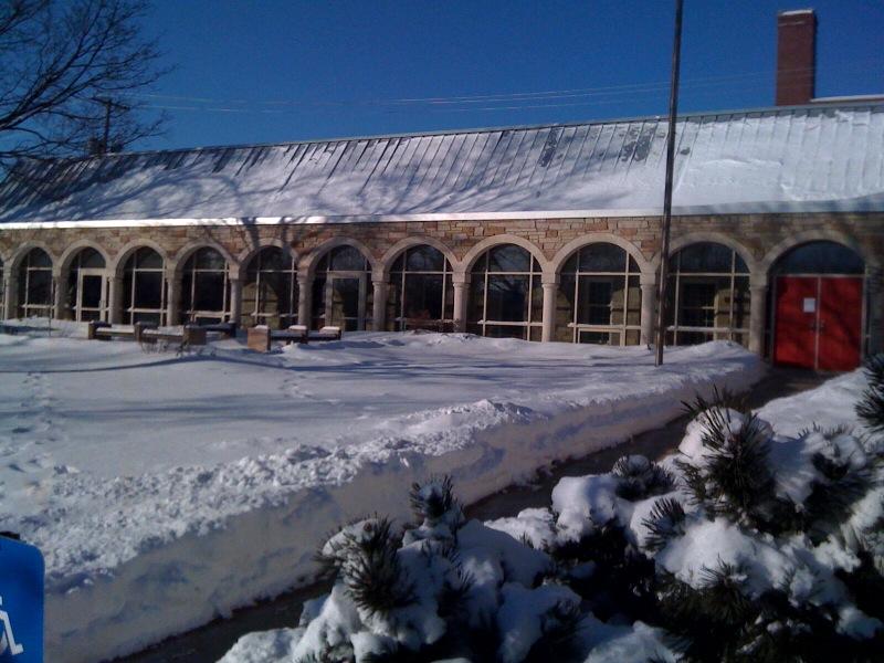 Trinity Lawn in Snow