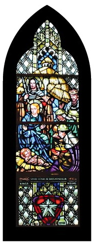 Nativity Window-black