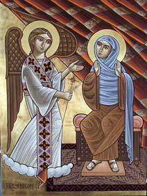 Annunciation Icon Rene