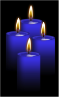 Advent Blue Candles