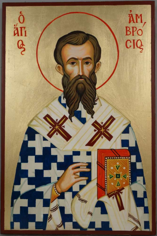 Saint_St_Ambrose_of_Milan_Hand-Painted_Orthodox_Icon_1