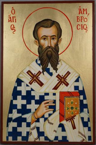 Saint_St_Ambrose_of_Milan_Hand-Painted_Orthodox_Icon_1