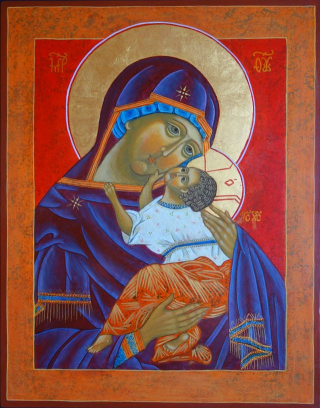 Virgin of Vladimir by the hand of Gay Pogue